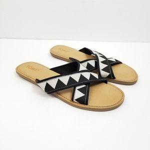 Toms Viv Sandal Black Triangle Sandal Sz 12